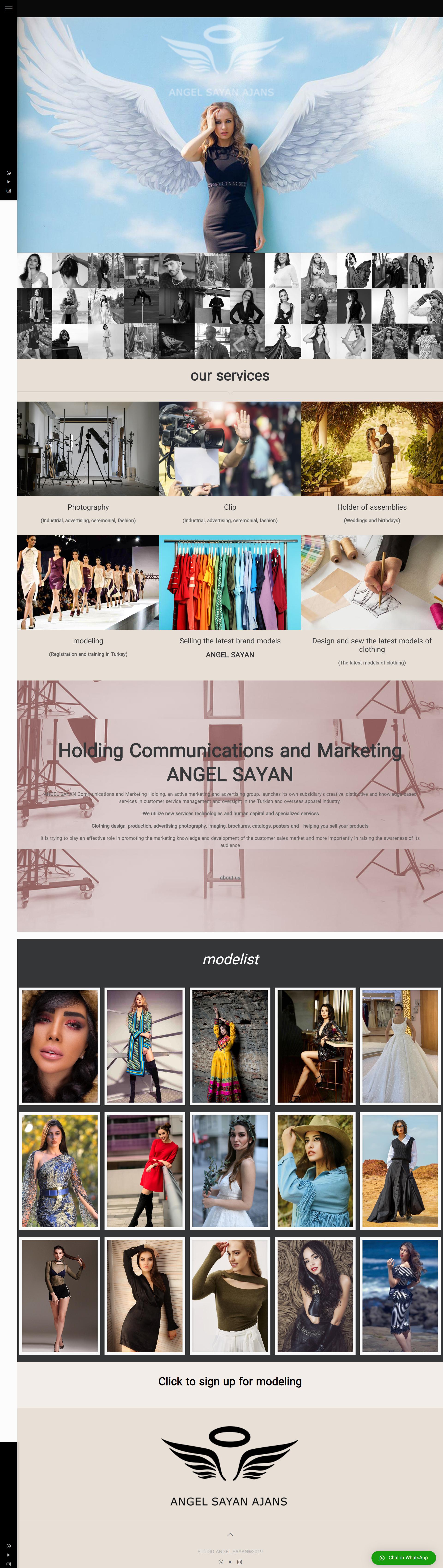 طراحی سایت مدلینگ